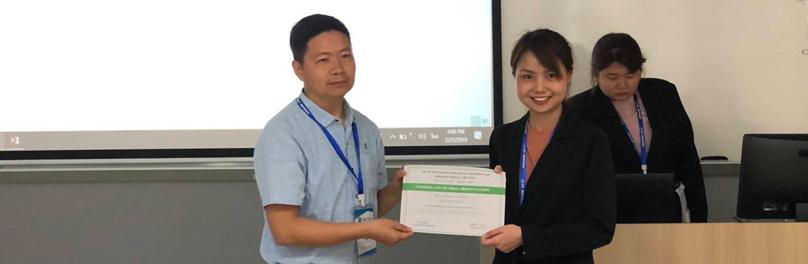 แสดงความยินดีกับนักศึกษาปริญญาโทได้รับรางวัล Best Oral Presentation ณ มาเก๊า ประเทศจีน