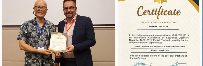 ขอแสดงความยินดีกับ อาจารย์ภาควิชาวิทยาการคอมพิวเตอร์และสารสนเทศ คณะวิทยาศาสตร์ประยุกต์ ได้รางวัล Best Presentations ในงานประชุมวิชาการระดับนานาชาติ ICKD 2019