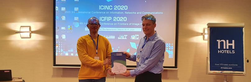 อาจารย์วิทยาศาสตร์ประยุกต์ได้รับรางวัล Best Presentations งานประชุมวิชาการระดับนานาชาติ ICINC 2020 ประเทศเนเธอร์แลนด์